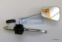 Chrome mirror 8mm  Continental head Fits both Left and Right hand and T140V T150 T160 Master cylinder