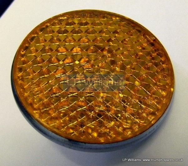 Round reflector - amber use 21-7009 nut if req