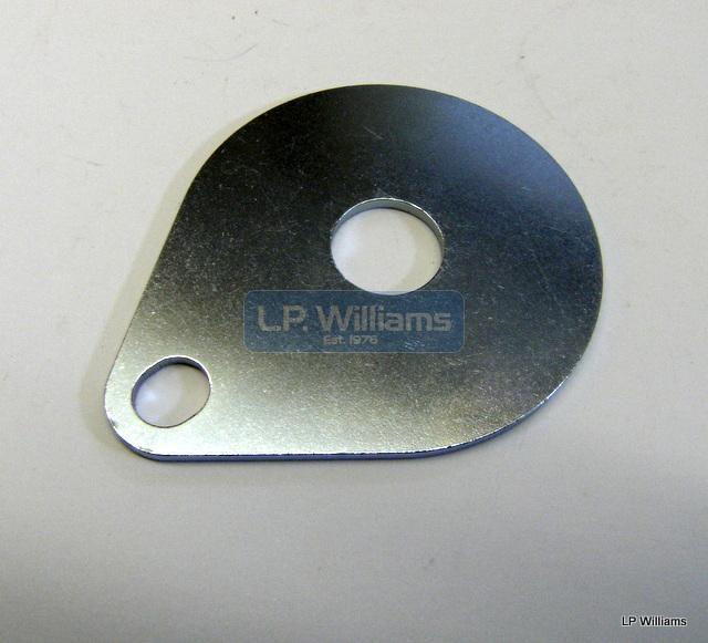 Steering damper anchor plate