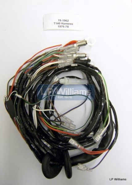 T140 harness  76-78 Points ignition and single phase alt