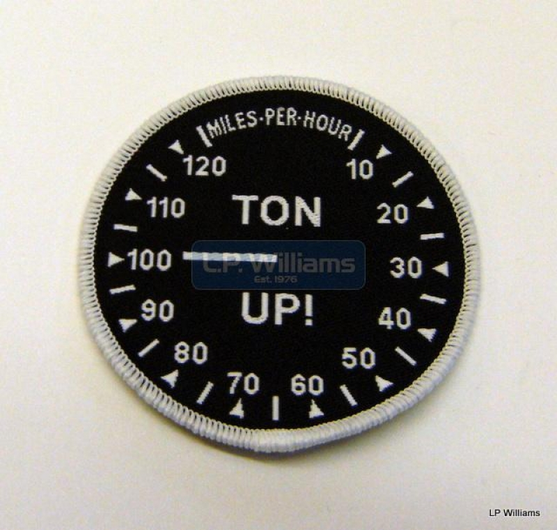 TON UP Badge.Round Sew or Iron on
