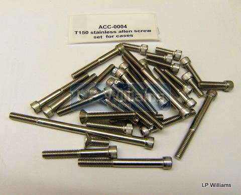 T150 stainless allen screw set All outer case screws including Timing cover, gearbox and primary cover