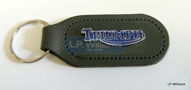 Triumph Key Fob Blue Script