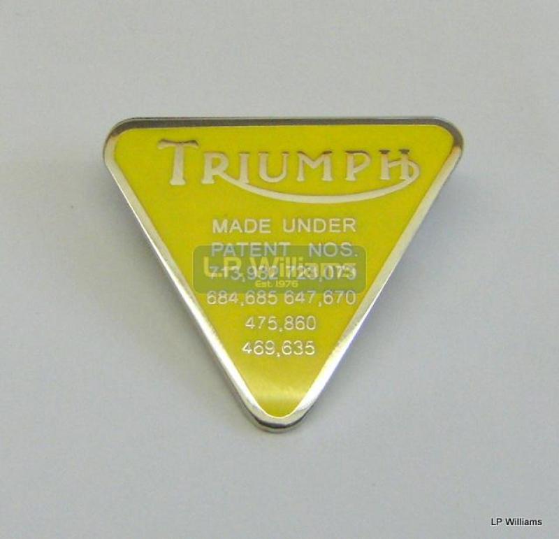 Triumph Pin Badge Yellow