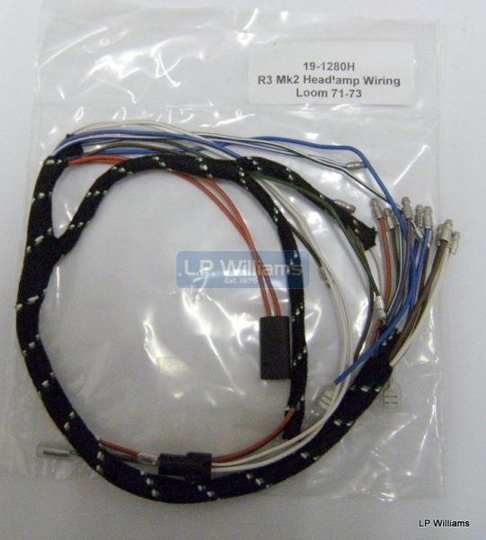 R3 Mk2 Headlamp wiring loom 71-73