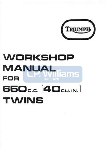 Workshop manual Unit 650 1971-74 OIF 4 & 5 speed
