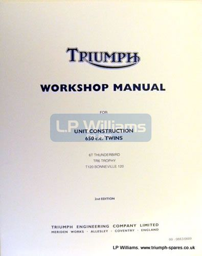 Workshop manual 650 unit twins 1963/70 incorporating 99-0889