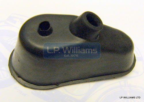 Headlamp rubber boot for flat back headlight