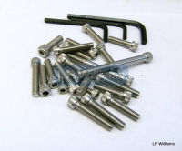 6T TR6 T120 1963-68 Unit construction allen screw set incl Allen keys Stainless BSF Thread