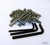 T120 68-on/T140 allen screw set stainless (UNC Threads)
