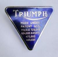 Triumph Pin Badge Blue