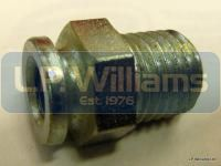 Clutch cable abutment T120 up to 1968 with cable adjuster thread (not fot the earlier spoke type adjuster)